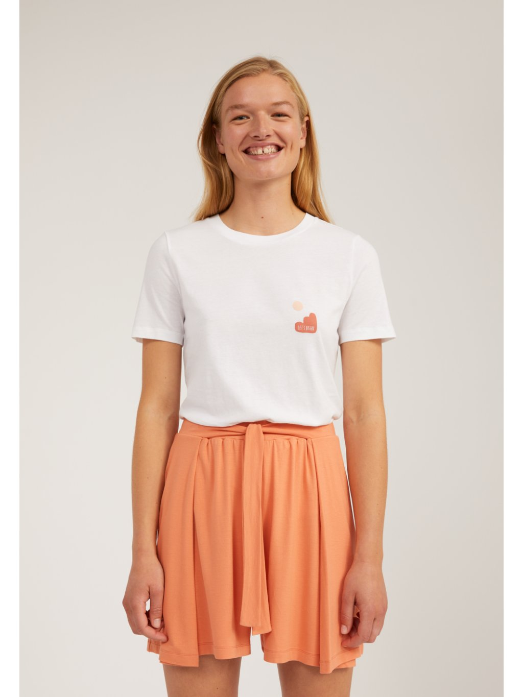 "Dámské bílé tričko s potiskem ""LIDAA LITTLE ELEMENTS white"""