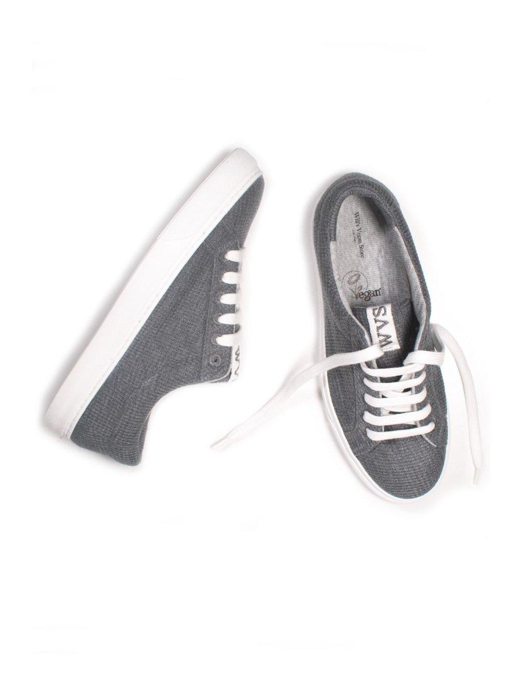 """Unisex rozložitelné šedé tenisky """"LDN Biodegradable Sneakers Grey"""""""