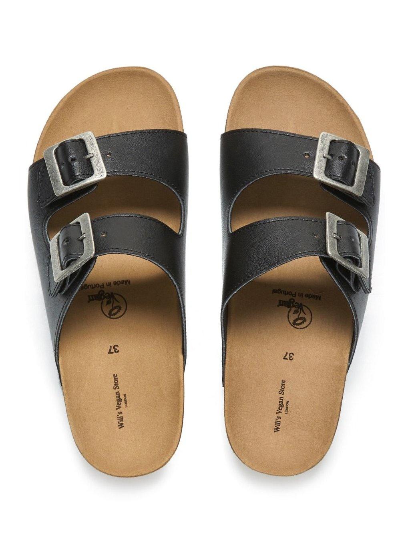 """Pánské černé sandály """"Footbed Sandals"""""""