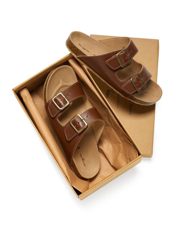 """Dámské hnědé sandály """"Two Strap Footbed Sandals"""""""