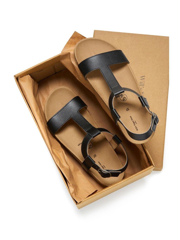 """Dámské černé sandály """"Footbed Sandals"""""""