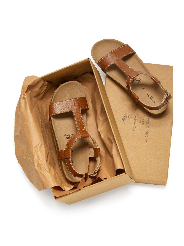 "Dámské hnědé sandály ""Footbed Sandals"""