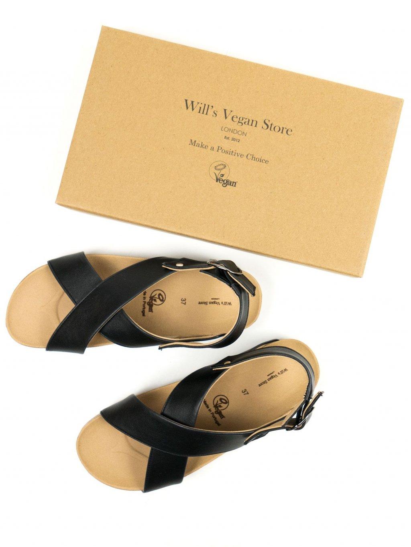 """Dámské černé sandály """"Huarache Footbed Sandals"""""""