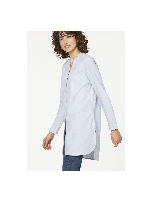 044f5235253 Dámská světle modrá dlouhá košile