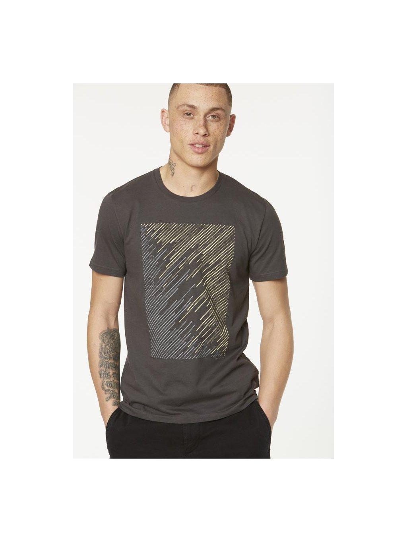 """Pánské šedé tričko """"James Geo Lines"""" - EtikButik.cz 13f2c97716"""
