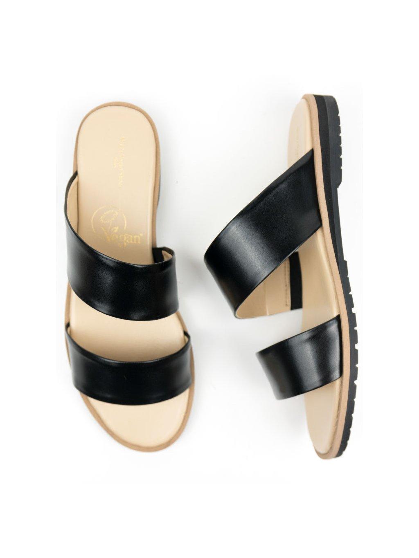two strap sandal black 2