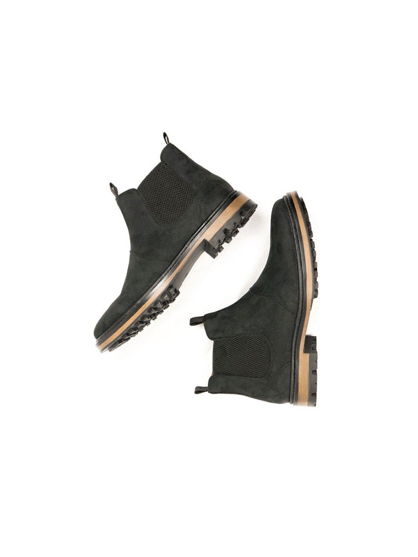 """Dámské černé kotníkové boty """"Continental Chelsea Boots"""" - EtikButik.cz b3a91268aa3"""