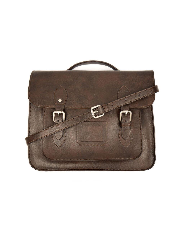 dark brown satchel 2 1