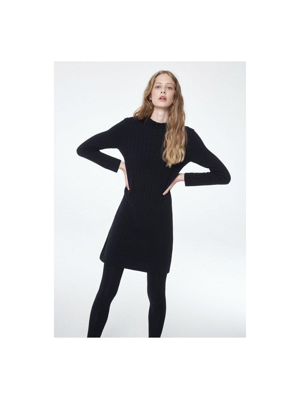 """1fd04abc8799 Dámské černé šaty z biobavlny """"Keoni Grid"""" - EtikButik.cz"""