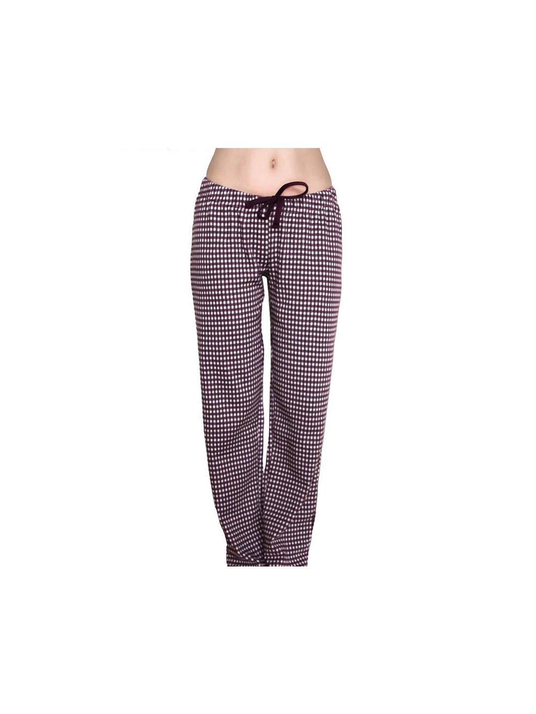 Dámské pyžamové kalhoty z biobavlny - fialové