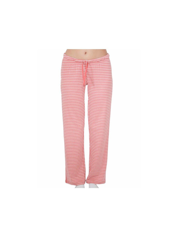 Dámské pyžamové kalhoty z biobavlny - růžové