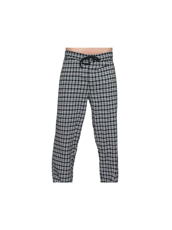 Pánské pyžamové kalhoty z biobavlny - černé