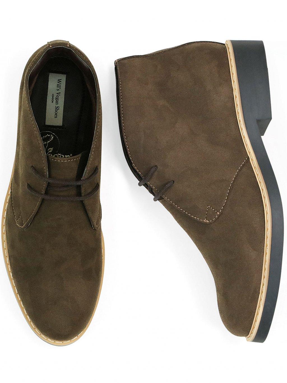 womens desert boots dark brown 4 new