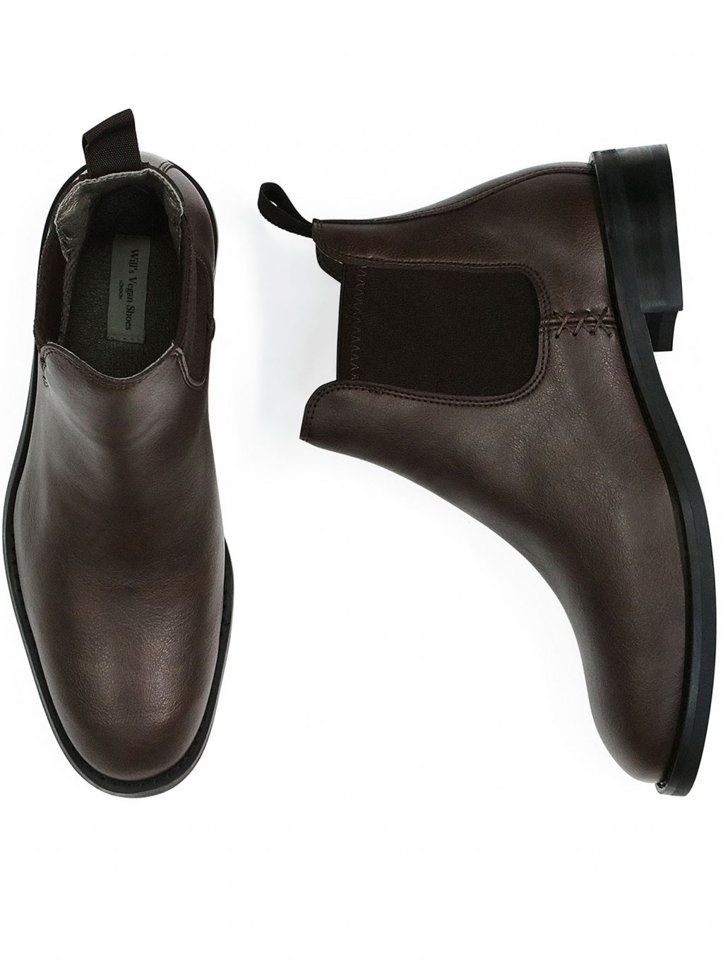 waterproof chelsea boots dark brown 1
