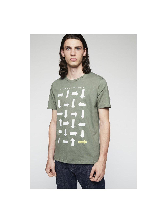 "Pánské zelené tričko ""JAAMES LOGIC"""