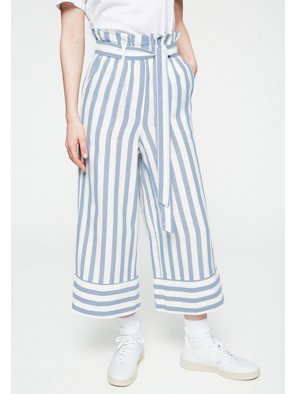 """Dámské lněné kalhoty """"MAARINA BLOCK STRIPE"""""""