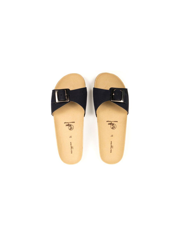"""Dámské tmavě modré sandálky """"Single Strap Footbed Sandals"""""""
