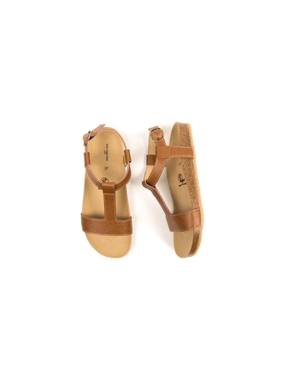 "Dámské hnědé sandálky ""Footbed Sandals Tan"""