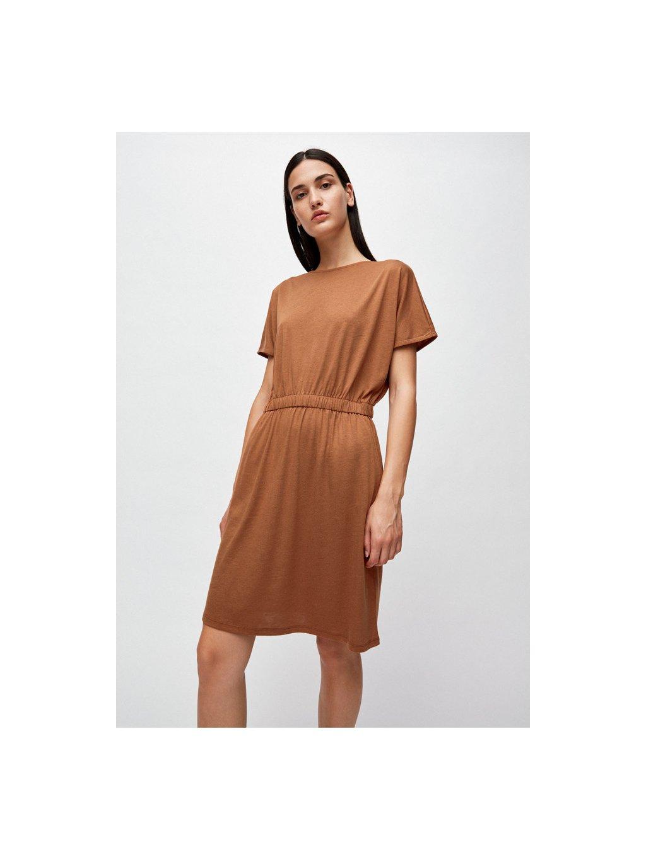 """Dámské hnědé šaty """"TADINAA maroon"""""""