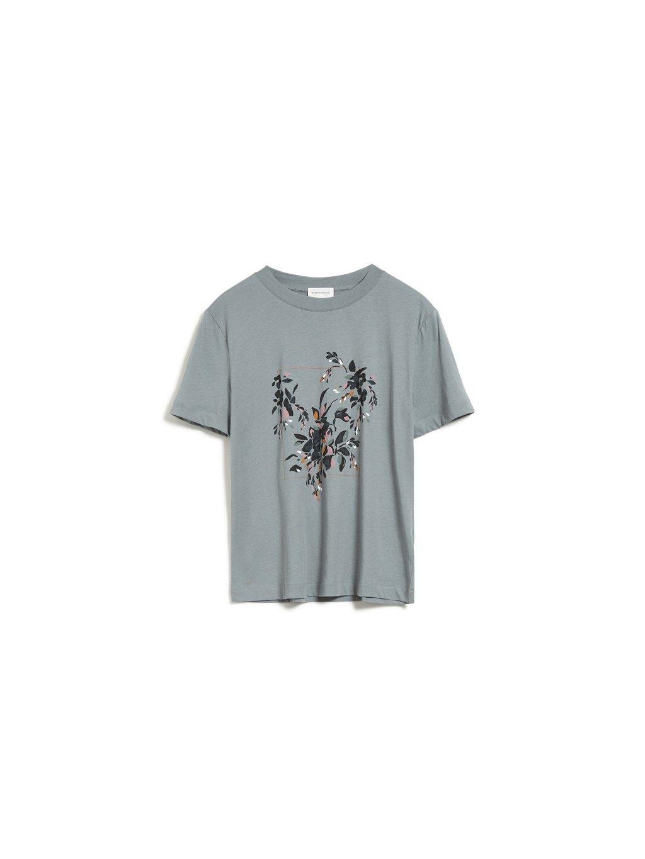 """Dámské zelené tričko z biobavlny """"MIAA floral frame"""""""