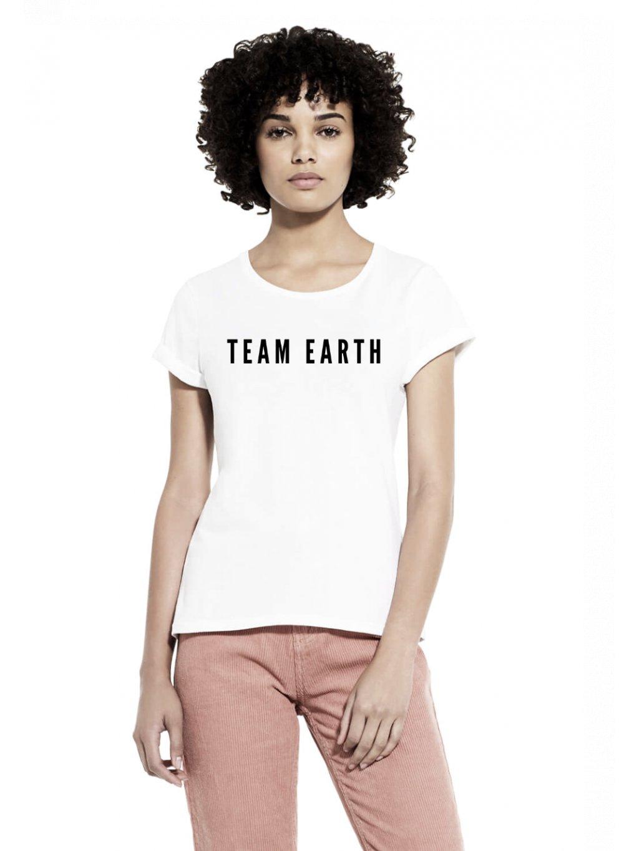 Damske tricko rollup sleeve Team Earth
