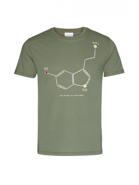 """Pánské zelené tričko """"JAAMES HAPPINESS"""""""