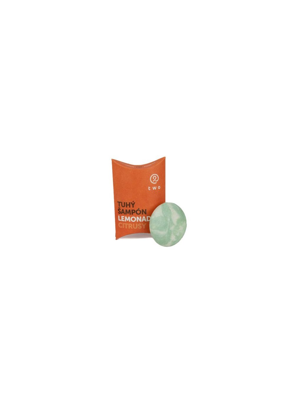 Two Cosmetics Tuhý šampon pro lesk a vitalitu Lemonade - citrusy (85 g)