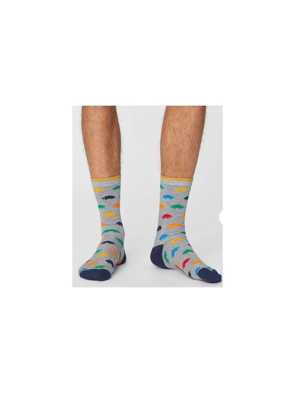 "Pánské šedé bambusové ponožky ""Gaming Socks"""