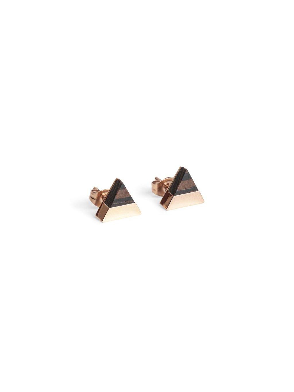0 rose earrings triangle