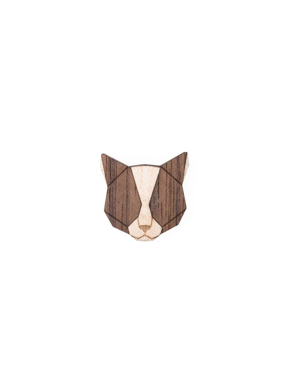 0 grey cat brooch
