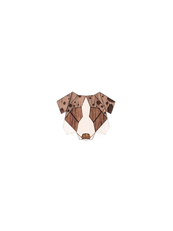 0 australian shepherd brooch