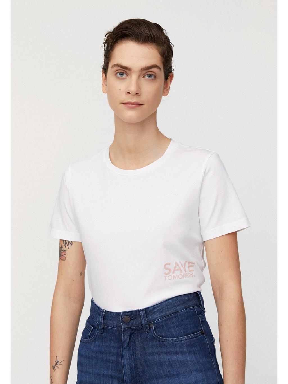 "Dámské tričko z biobavlny ""MARAA SAVE TOMORROW white"""