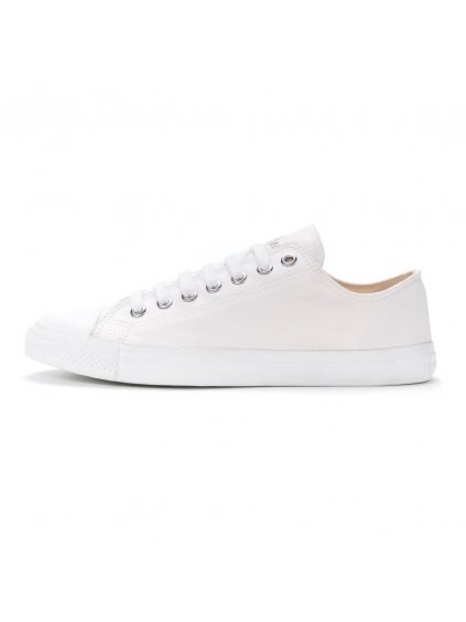 ethletic fair trainer white cap lo cut just white