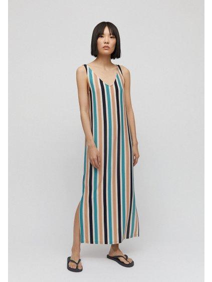 """Dámské dlouhé šaty s pruhy """"MADALENAA multi stripe"""""""