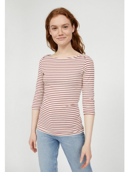 dalenaa stripes rosewood off white