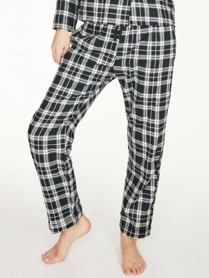wwb5208 midnight navy tehran pyjama trousers in midnight navy organic cotton 2