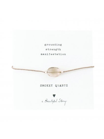 """Dámský náramek """"Gemstone Card Smokey Quartz Silver Bracelet"""""""
