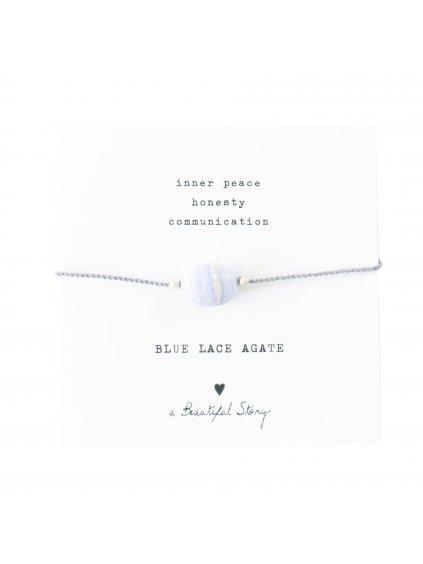 """Dámský náramek """"Gemstone Card Blue Lace Agate Bracelet"""""""