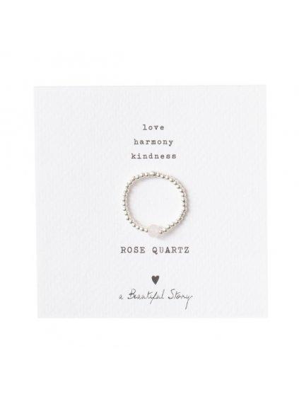 "Dámský prsten ""Sparkle Rose Quartz Silver Ring"""