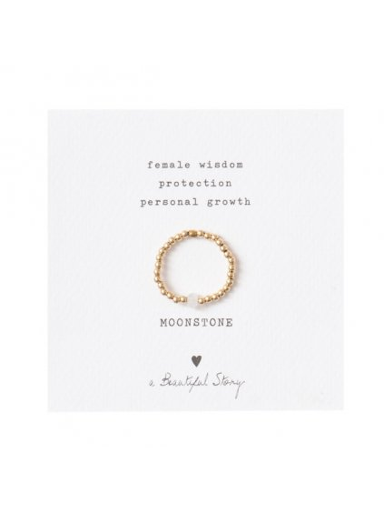 """Dámský prsten """"Sparkle Moonstone Gold Ring"""""""