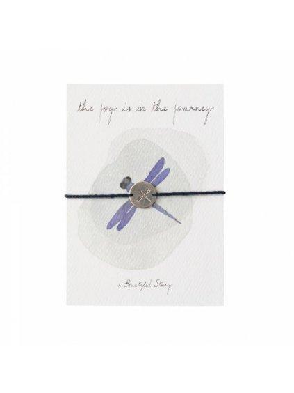 """Dámský náramek s přáním """"Jewelry Postcard Dragonfly"""""""