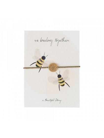 """Dámský náramek s přáním """"Jewelry Postcard Bees"""""""