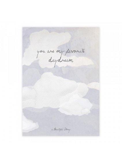 "A Beautiful Story přáníčko ""Greeting Card Clouds"""