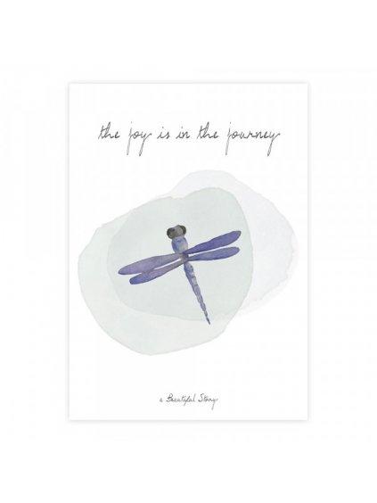 """A Beautiful Story přáníčko """"Greeting Card Dragonfly"""""""