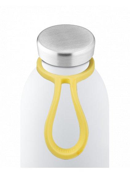 24Bottles Silikónový držák na láhev Bottle Tie: LIGHT YELLOW