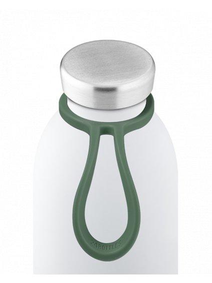 24Bottles Silikónový držák na láhev Bottle Tie: LIGHT GREEN