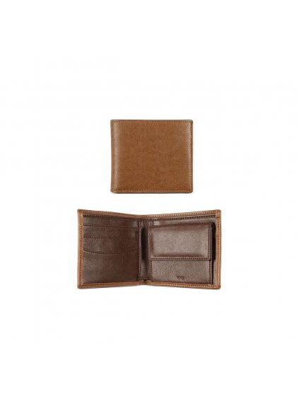 billfold coin wallet tan 1