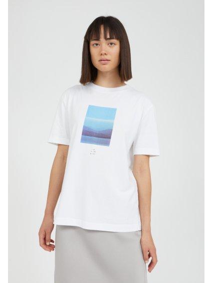 """Dámské bílé tričko s potiskem """"MIAA I YOU WE ARE white"""""""