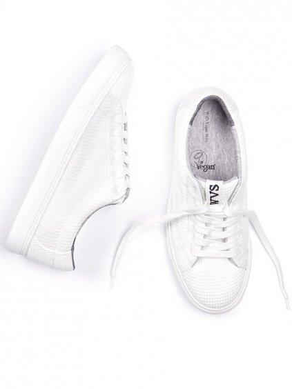"""Unisex rozložitelné bílé tenisky """"LDN Biodegradable Sneakers White"""""""