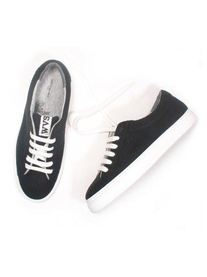 """Unisex rozložitelné černé tenisky """"LDN Biodegradable Sneakers Black"""""""
